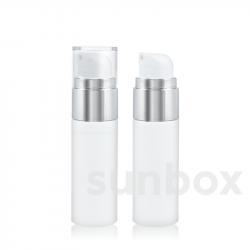 Airless Silver SLIM 30ml Bianco con Alluminio