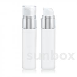 Airless Silver SLIM 50ml Bianco con Alluminio