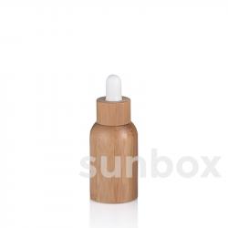 Bottiglia in vetro da 15ml con rivestimento in bambù