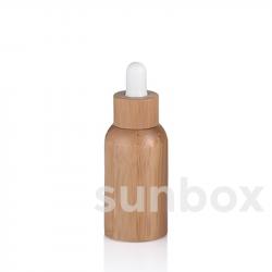 Bottiglia in vetro da 30ml con rivestimento in bambù