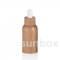 Bottiglia in vetro da 50ml con rivestimento in bambù