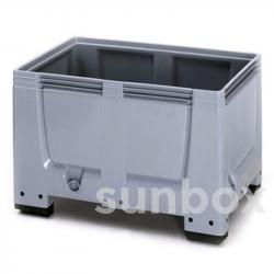 Box Pallet Chiuso 600L con 4 Piedini