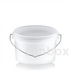 Secchio ovale bianco da 5L