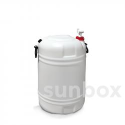 Bidone impilabile 60L. Diametro dell´imboccatura 48mm. Opzionale con rubinetto.