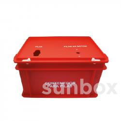 Cassetta rossa per pile (40x30x23,5cm)
