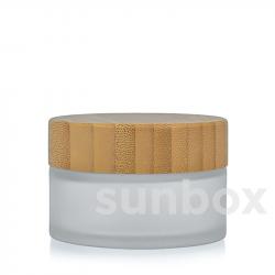 Barattolo di Vetro Satinato Bambú 15ML